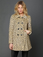 Leopard print coat at Free People