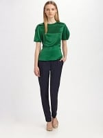 Robin's green satin top from HIMYM at Saks Fifth Avenue