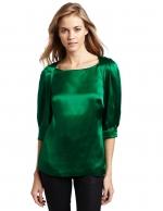 Green silk blouse like Robins at Amazon