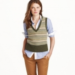 Lily's green vest at J. Crew