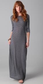Grey striped maxi dress at Shopbop