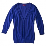 Blue V neck cardigan like Robins at Target