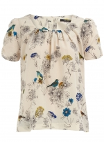 Bird print top like Lily's at Dorothy Perkins