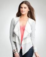 Light grey jacket at Bebe