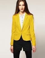 Yellow mustard blazer at Asos