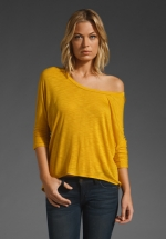 Mustard colored top at Revolve