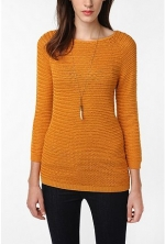 Mustard sweater at Urban Outfitters
