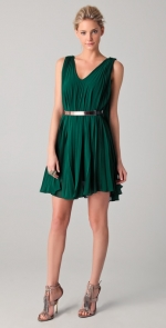 Green Nicholas cocktail dress at Shopbop
