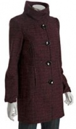 Maroon tweed coat like Lily's at Bluefly