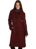 Red tweed coat at Zappos