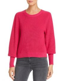 525 America Ribbed Bishop-Sleeve Sweater Women - Bloomingdale s at Bloomingdales