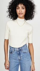 525 Wide Rib Mock Neck Pullover at Shopbop