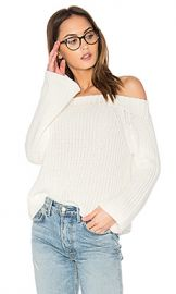525 america Off Shoulder Sweater in Bleach White from Revolve com at Revolve