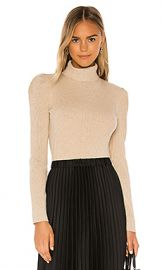 525 america Puff Sleeve Pullover Sweater in Doe Melange from Revolve com at Revolve