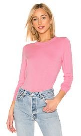 525 america Ribbed Crew Neck Pullover in Seashell Pink from Revolve com at Revolve