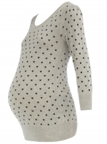 Grey maternity sweater at Dorothy Perkins