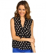 Polka dot top at Zappos
