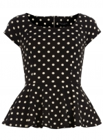 Polka dot top at Dorothy Perkins