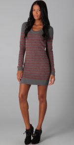 Grey striped sweater dress from HIMYM at Shopbop