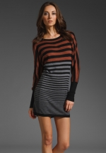 Striped grey sweater dress at Revolve