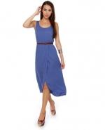 Blue midi dress at Lulus