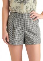 Similar black and white shorts at Modcloth