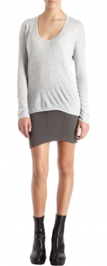 Rachel's grey sweater at Barneys