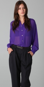 Sheer purple blouse at Shopbop