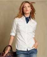Similar pin dot blouse at Macys