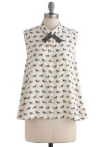 Mindy's bow tie top at Modcloth