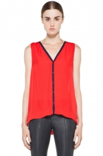 Robin's red top at Forward by Elyse Walker
