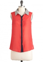 Red top like Robins at Modcloth