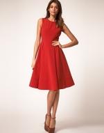 Red midi dress like Robins at Asos