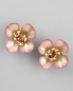 Blair's flower earrings at Neiman Marcus