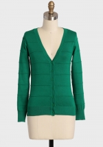 Green cardigan at Ruche