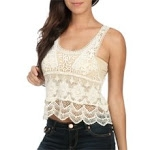 Magnolias crochet top at Wet Seal