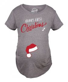 \\\'Bump\\\'s First Christmas\\\' Maternity Tee by Crazy Dog at Zulily