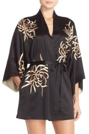 \'Empress\' Embroidered Charmeuse Robe at Nordstrom Rack