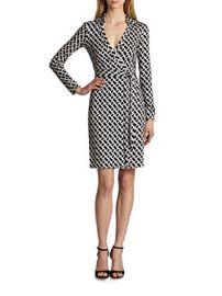 \'New Jeanne Two\' Print Silk Wrap Dress by Diane von Furstenberg at Amazon