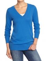 Similar blue v-neck sweater at Oldnavy