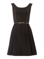 Black studded dress at House of Fraser