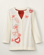 Embroidered cardigan like Lemons at Coldwater Creek