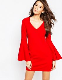 60s Shift Dress with Flared Sleeves in Ponte by Asos at ASOS