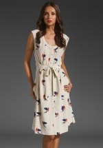 Same dress in cream at Revolve