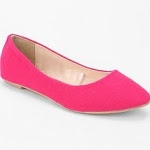 Pink flats like Pennys at Urban Outfitters