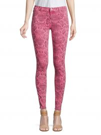 620 Mid-Rise Super Skinny Snakeskin Print Jeans at Saks Off 5th