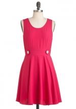Bernadette's pink dress at Modcloth