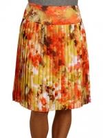 Orange floral skirt at 6pm