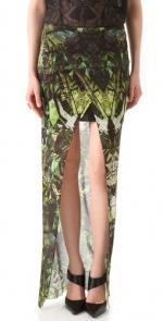 Hanna's green maxi skirt at Shopbop