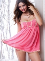 Frilly pink chemise at Victorias Secret